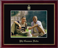 Phi Gamma Delta Photo Frame - Wall Hanging Embossed Photo Frame - 8 x 10 in Galleria