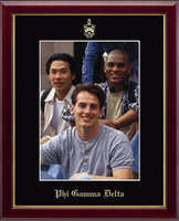 Phi Gamma Delta Photo Frame - Embossed Photo Frame - Name & Seal - Vertical in Galleria