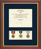 Medal Frames and Display Cases Diploma Frame - Military Certificate and Medal Display Frame - (Navy) in Newport