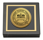 Southern Illinois University Carbondale Paperweight - Gold Engraved Medallion Paperweight