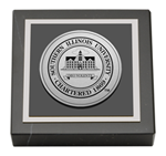 Southern Illinois University Carbondale Paperweight - Silver Engraved Medallion Paperweight