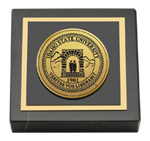 Idaho State University Paperweight - Gold Engraved Medallion Paperweight