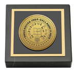 Gallaudet University Paperweight - Gold Engraved Medallion Paperweight