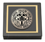 College of the Holy Cross Paperweight - Black Enamel Masterpiece Medallion Paperweight