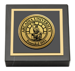 Arcadia University Paperweight - Gold Engraved Medallion Paperweight
