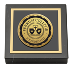 Ferrum College Paperweight - Gold Engraved Medallion Paperweight
