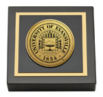 University of Evansville Paperweight - Gold Engraved Medallion Paperweight