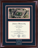 Auburn University Diploma Frame - Spirit Medallion Stadium Scene in Encore