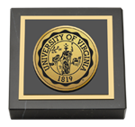 University of Virginia Paperweight - Gold Engraved Medallion Paperweight