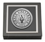 Grace University Paperweight - Silver Engraved Medallion Paperweight