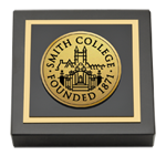 Smith College Paperweight - Gold Engraved Medallion Paperweight
