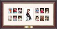 New Baby and Baby Shower Collage Frame - Baby's First Year Photo Frame in Studio Gold
