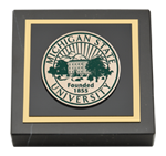Michigan State University Paperweight - Masterpiece Medallion Paperweight
