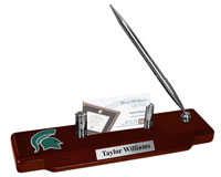 Michigan State University Desk Pen Set - Spirit Medallion Desk Pen Set