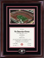 The University of Georgia Diploma Frame - Stadium Spirit Medallion Diploma Frame in Encore