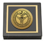 St. Bonaventure University Paperweight - Gold Engraved Medallion Paperweight