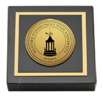 Western Connecticut State University Paperweight - Gold Engraved Medallion Paperweight