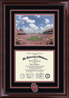 The University of Oklahoma Diploma Frame - Stadium & Spirit Medallion Diploma Frame in Encore