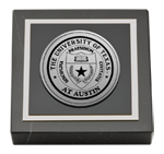 The University of Texas Austin Paperweight - Silver Engraved Medallion Paperweight