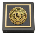 Prairie View A&M University Paperweight - Gold Engraved Medallion Paperweight