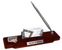 University of Northern Iowa Desk Pen Set - Spirit Medallion Desk Pen Set