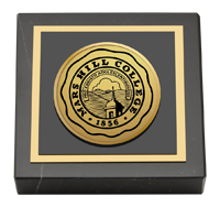 Mars Hill College Paperweight - Gold Engraved Medallion Paperweight