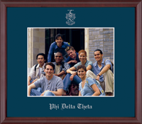 Phi Delta Theta Photo Frame - 8' x 10' - Wall Hanging Embossed Photo Frame in Camby