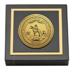 DeVry Institute of Technology Paperweight - Gold Engraved Medallion Paperweight