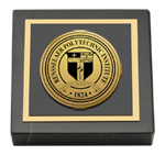 Rensselaer Polytechnic Institute Paperweight - Gold Engraved Medallion Paperweight