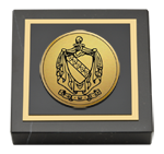 Tau Kappa Epsilon Paperweight - Gold Engraved Medallion Paperweight