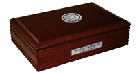 Sterling College Desk Box - Silver Engraved Medallion Desk Box