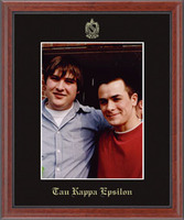 Tau Kappa Epsilon Photo Frame - 8' x 10' - Wall Hanging Embossed Photo Frame in Signet