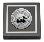 University of North Carolina Asheville Paperweight - Silver Engraved Medallion Paperweight