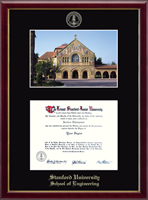 Stanford University Diploma Frame - Campus Scene Edition Diploma Frame in Galleria