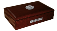 Cleveland State University Desk Box - Silver Engraved Medallion Desk Box