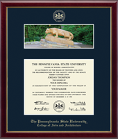 Pennsylvania State University Diploma Frame - Campus Scene Diploma Frame - Nittany Lion in Galleria