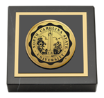 North Carolina State University Paperweight - Gold Engraved Medallion Paperweight