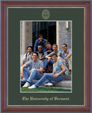 The University of Vermont Photo Frame - Gold Embossed Photo Frame in Kensit Gold