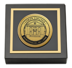 Coker College Paperweight - Gold Engraved Medallion Paperweight