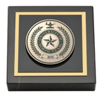 University of North Texas Paperweight - Brass Masterpiece Medallion Paperweight