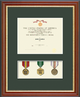 Medal Frames and Display Cases Diploma Frame - Military Certificate and Medal Display Frame - (Green) in Newport