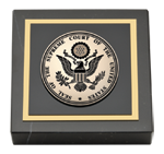 Supreme Court of the United States Paperweight - Black Enameled Masterpiece Medallion Paperweight