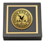 Chadron State College Paperweight - Gold Engraved Medallion Paperweight