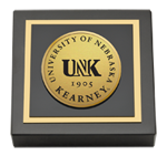 University of Nebraska Kearney Paperweight - Gold Engraved Medallion Paperweight
