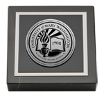 University of Mary Washington Paperweight - Silver Engraved Medallion Paperweight