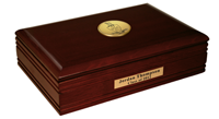 Sigma Chi Desk Box - Gold Engraved Medallion Desk Box