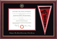 Rutgers University, The State University of New Jersey Diploma Frame - Pennant Edition Diploma Frame in Gallery