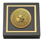 Wesleyan College Georgia Paperweight - Gold Engraved Medallion Paperweight