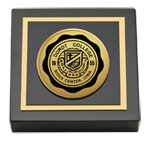 Dordt College Paperweight - Gold Engraved Medallion Paperweight
