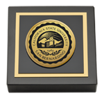California State University San Bernardino Paperweight - Gold Engraved Medallion Paperweight
